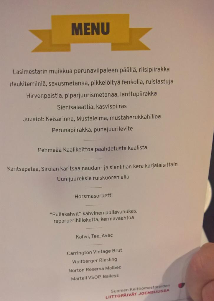 Illallisen menu